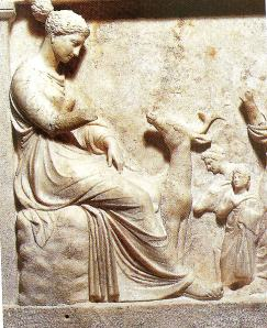 Artemis on a relief