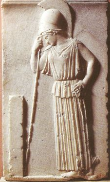 Relief of goddess Athena