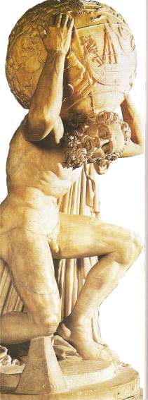 Atlas holding the earth