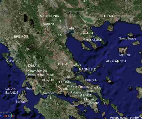 Central and northern ancient Greece