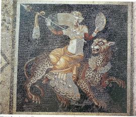 Dionysus seated on a panther