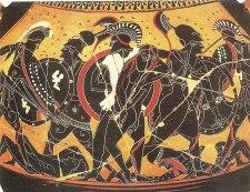 The first battles of the Trojan War