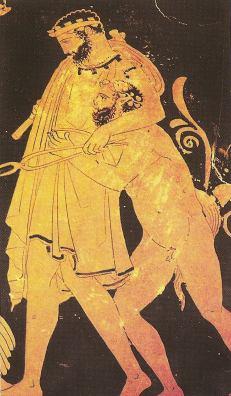 Hephaestus brought back to Olympus