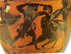 Hercules kills Cycnus,son of Ares