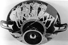 Odysseus quarrels with Ajaxr