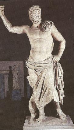 Statue of Poseidon in Milos