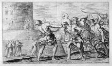 Sinon taken prisoner by the Trojans