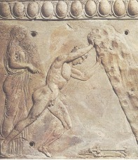 Theseus lifting the rock