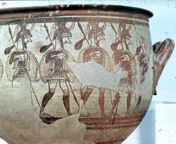 Greek warriors in the Trojan War