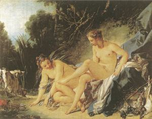 Goddess Artemis resting