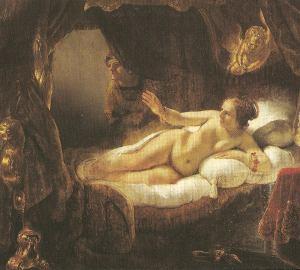 Danae and Eros waiting for Zeus