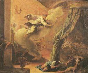 Asclepius healing a sleeping man