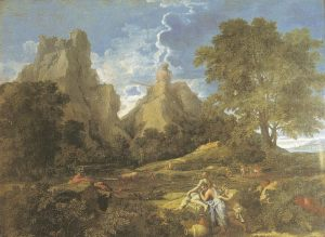 Landscape with mythological deities