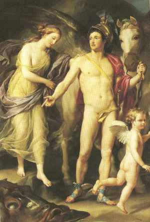 Andromeda follows Perseus after her rescue