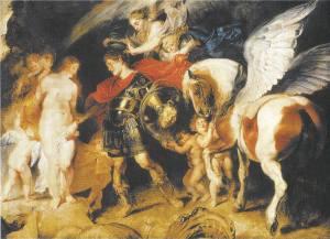 Perseus rescues Andromeda