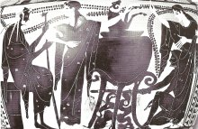 Medea performing rejuvenation ritual on Pelias