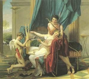 Sapfo with her lover Phaeon