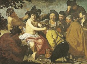 Peasants honoring god Dionysus