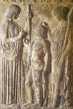 Demeter and Triptolemus
