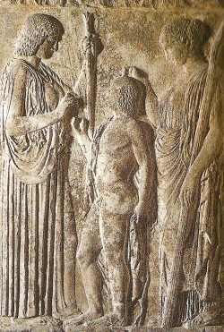 Demeter and Triptolemus