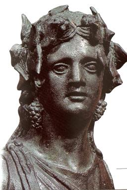 Bronze statue of Dionysus