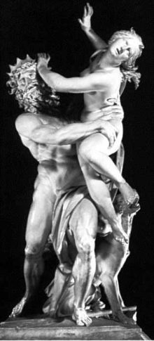 Hades abducts Persephone