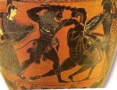 Hercules kills Cycnus,son of Ares