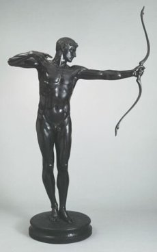 Statue of Greek hero Teucer