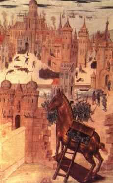 The Trojan Horse taken inside Troy