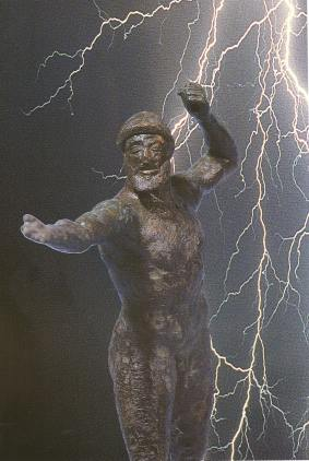 Bronze statue of Zeus