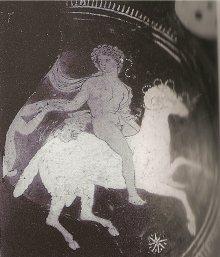 Phrixus taken away by the ram with the golden fleece