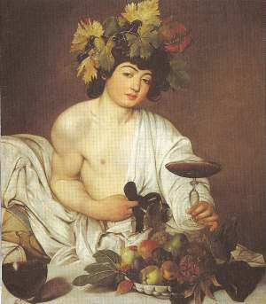 Portrait of young Dionysus